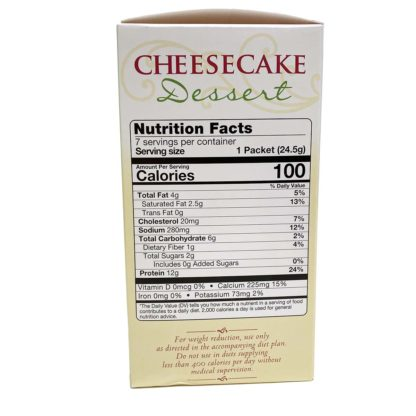 Cheesecake Dessert nutrition